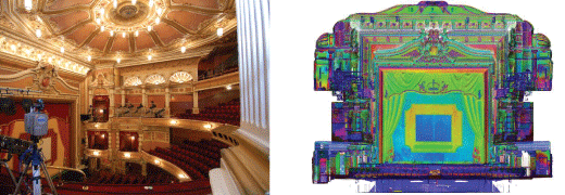 3D laser scanning interior kings theatre glasgow